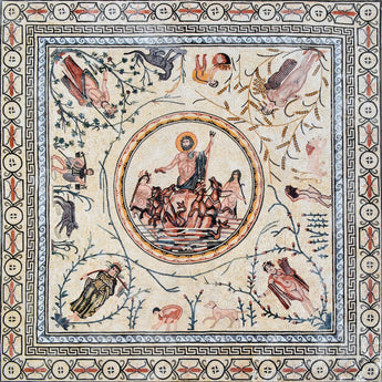 Neptune and the Four Seasons Mosaic