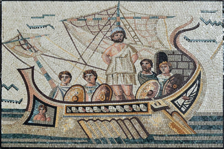 Roman Mosaic of Ulysses Reproduction Artwork