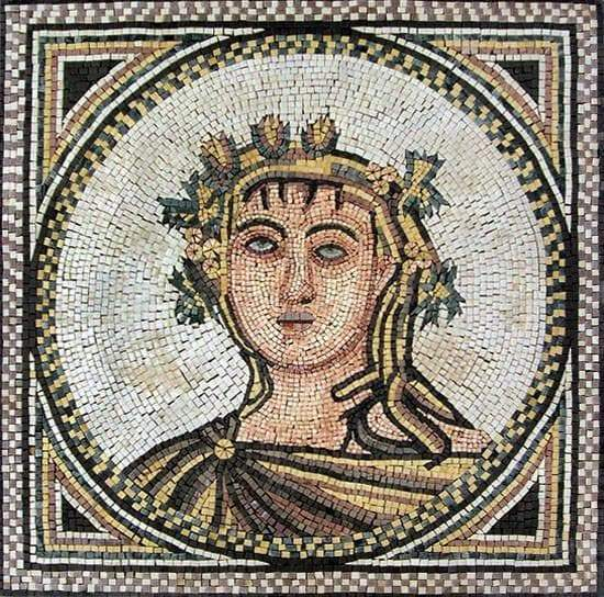 Adonis The God Of Beauty Mosaic Art