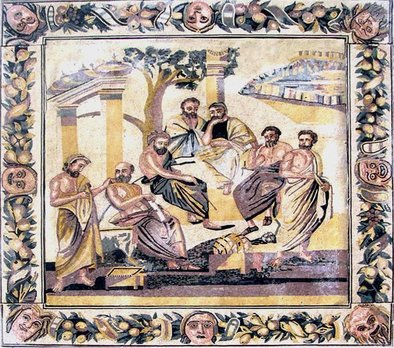 Ancient Scene Mosaic Art
