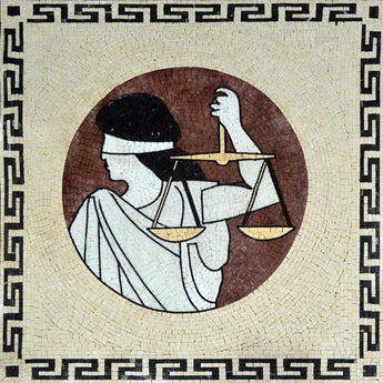 Lady Justice Mosaic Accent