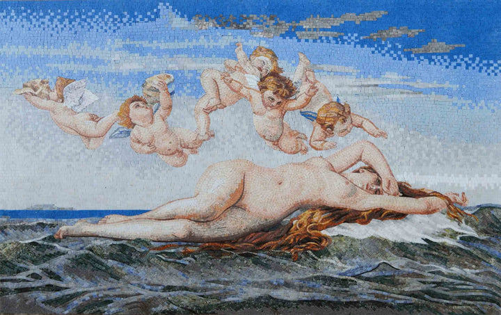 "Mosaic Reproduction - Alexandre Cabanel  Birth of Venus "" """