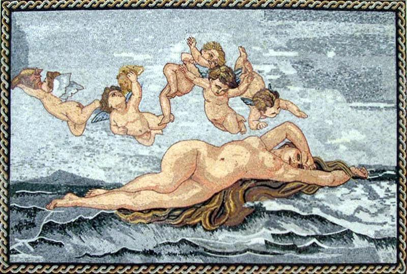"Alexandre Cabanel  Birth of Venus "" - Mosaic Art Reproduction """