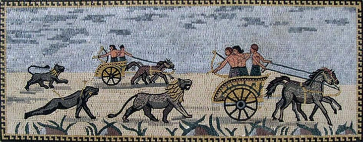 Ancient Greek Scene Mosaic