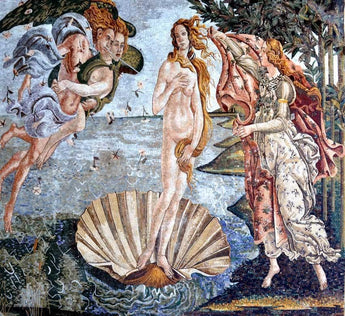 "Sandro Botticelli  Birth of Venus "" - Mosaic Art Reproduction """
