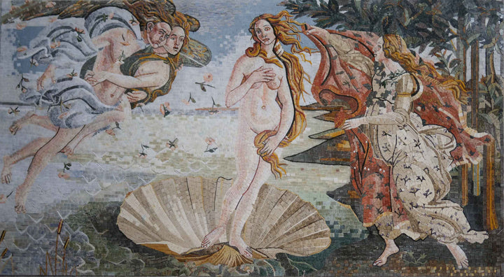 """Birth of Venus"" Sandro Botticelli - Mosaic Artwork Reproduction"