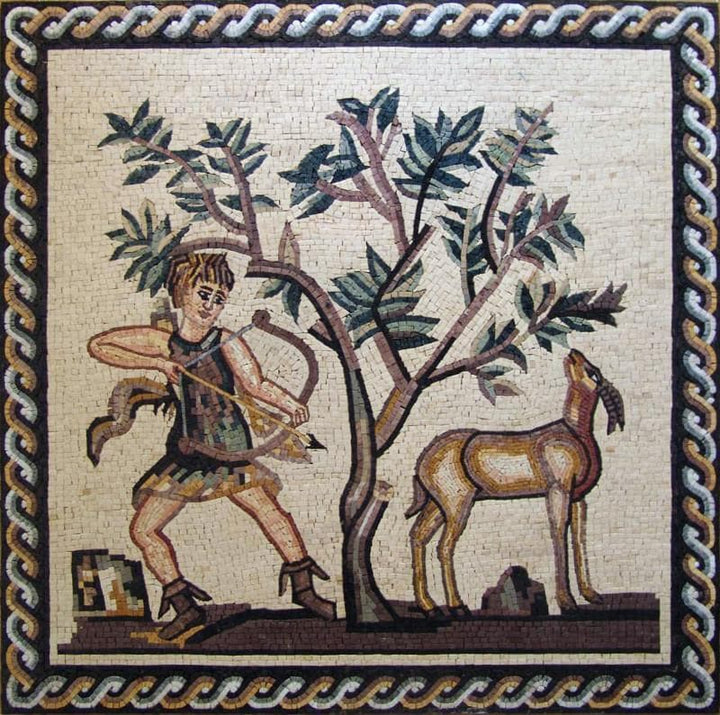 Mosaic Art - Greek Hunting Scene