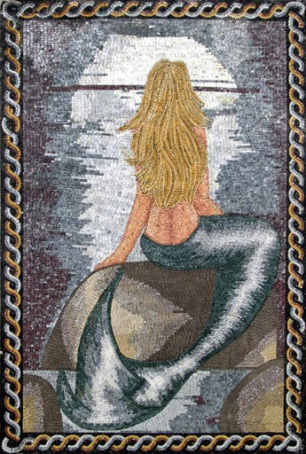 Little Mermaid Mosaic Art