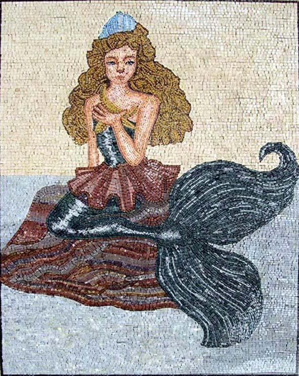 Princess Mermaid Mosaic Art Tiles
