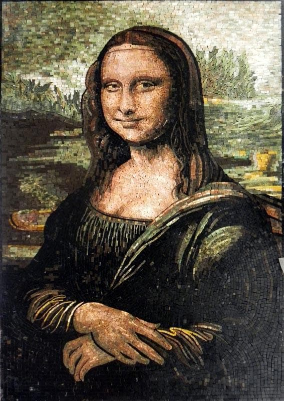 "Leonardo Da Vinci  Mona Lisa"" - Mosaic Reproduction """