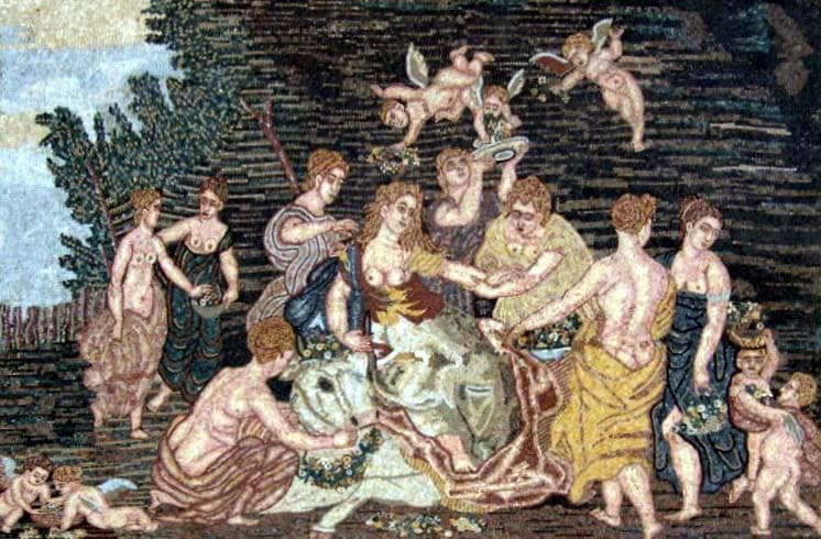Angels Scene Mosaic