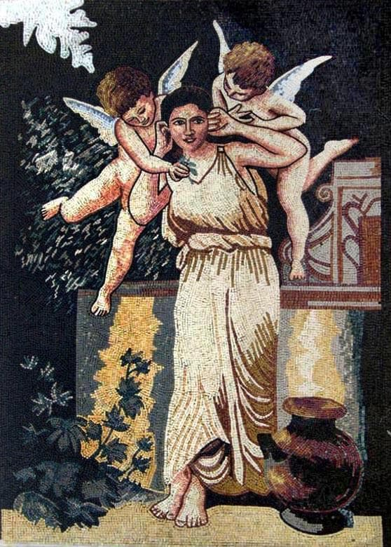 Custom Mosaics - Greek Goddess and Angels