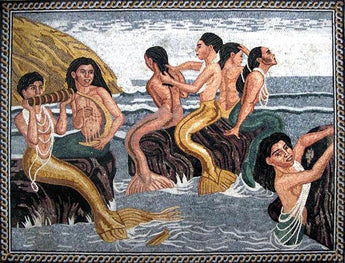 "Tim Ashkar Mermaids of the Canary"" - Mosaic Reproduction"""
