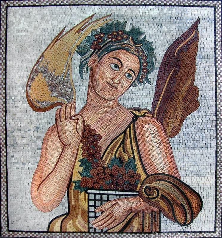 Ancient Mosaic Patterns- Eshmun God
