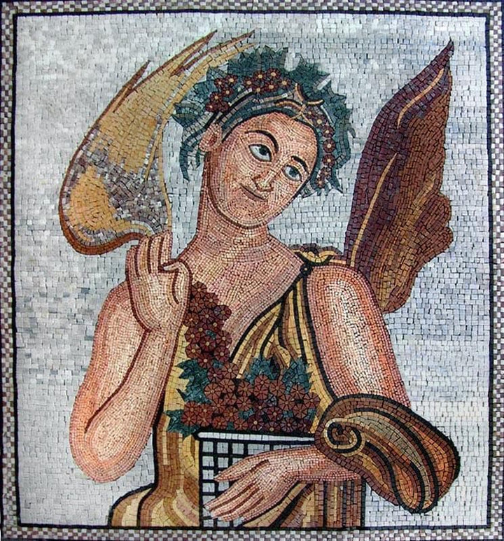 Eshmun The God Of Healing Handmade Mosaic