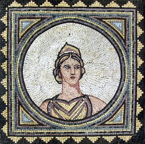 Greek Goddess of Hearth - Mosaic Reproduction