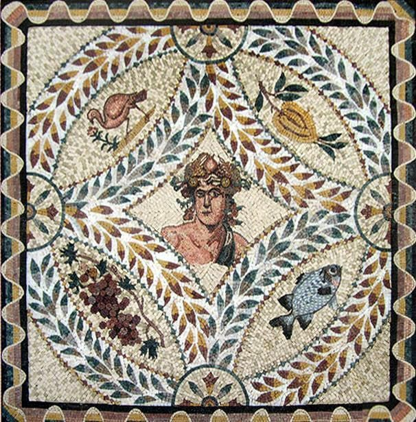 Greek Mythology God Mosaic