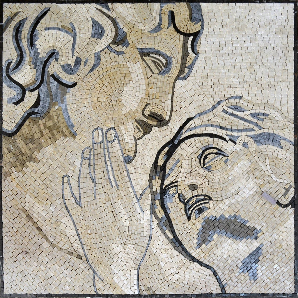 Mosaic Mural OF Eve and Adam