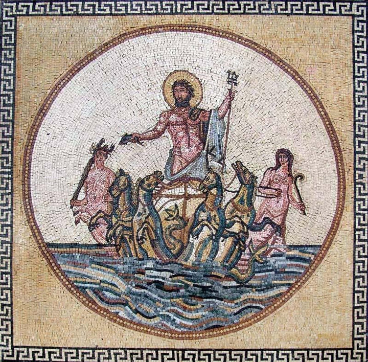 Poseidon Greek God Mosaics