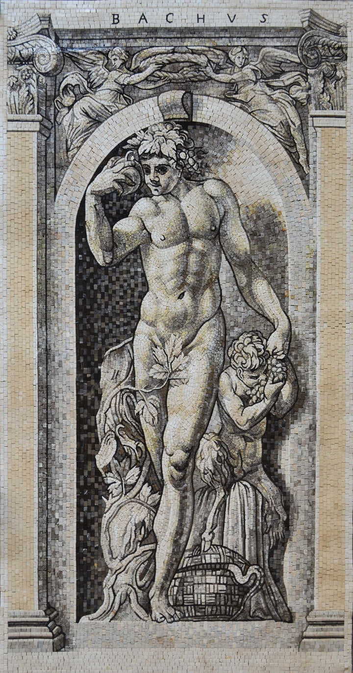 Mosaic Art - The God Bachus
