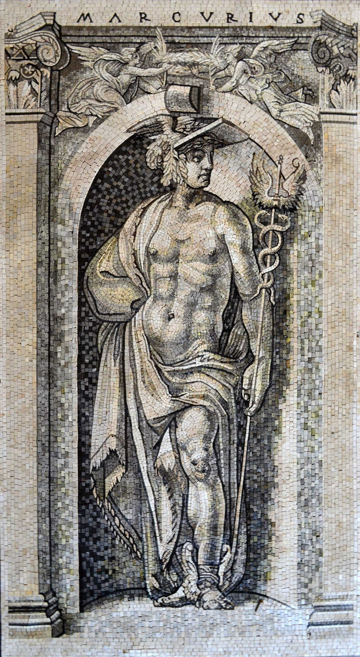 Mosaic Art - The Portrait of Mercurius