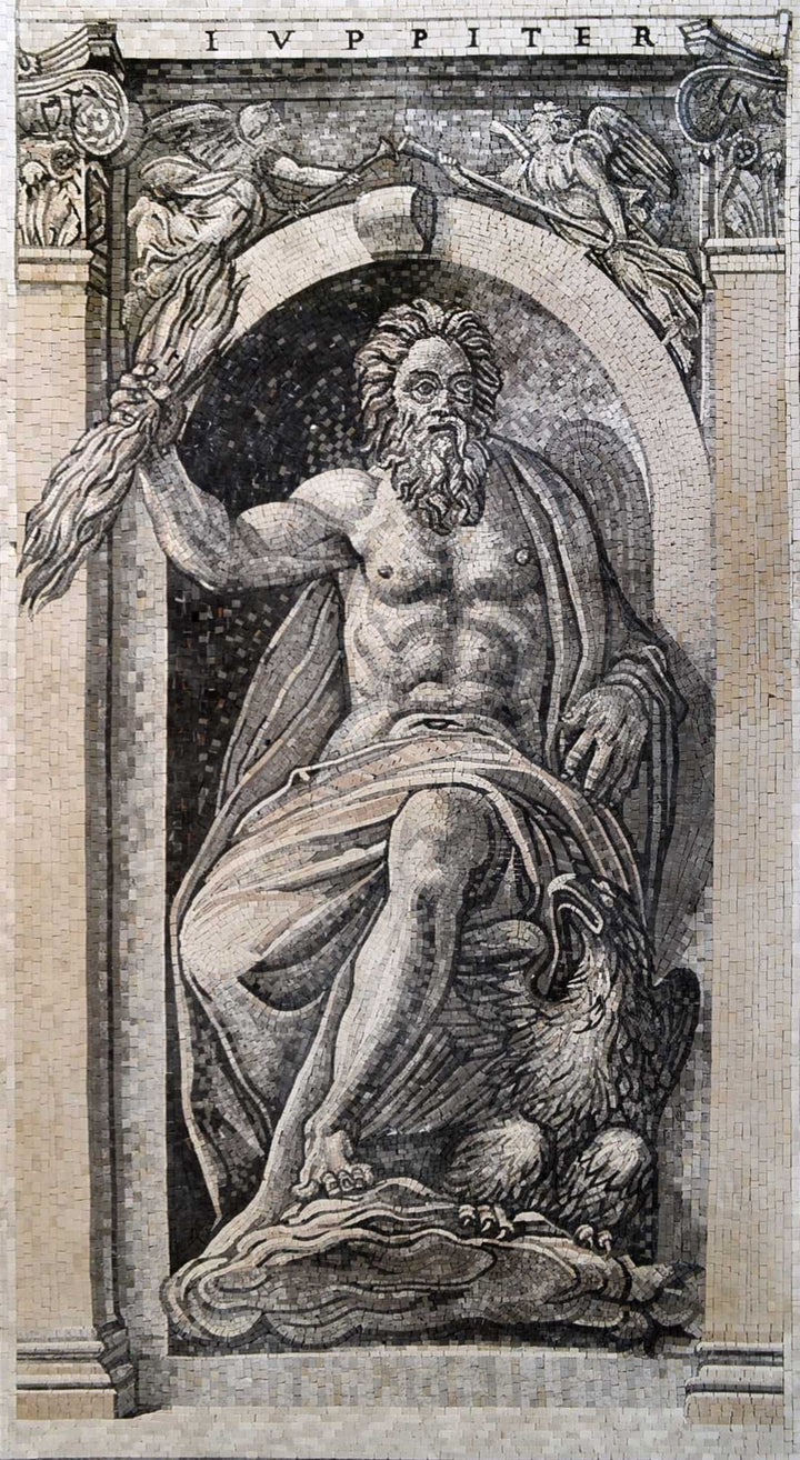 Jupiter God Marble Mosaic