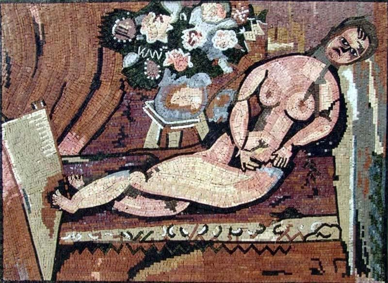 Marc Chagal Nude Mosaic Reproduction Pic