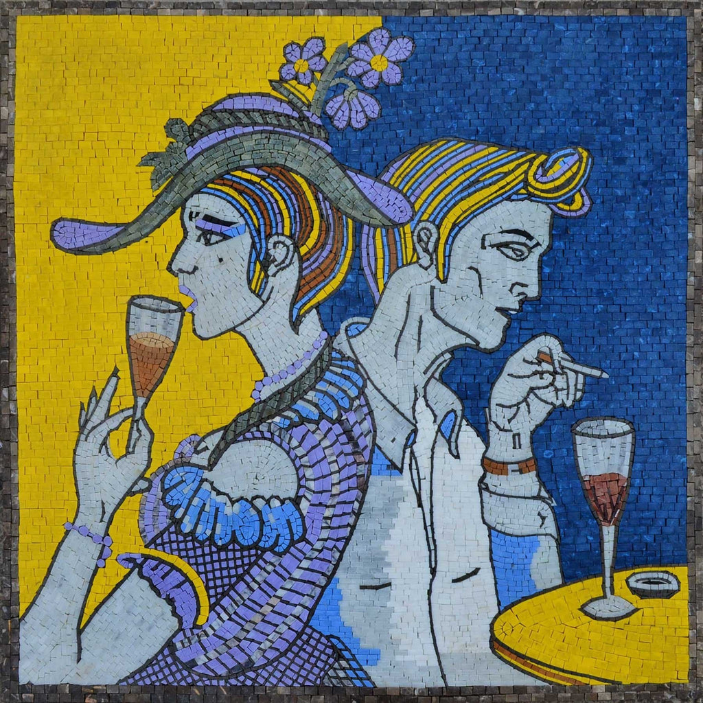 The Wine Daze Mosaic Reproduction