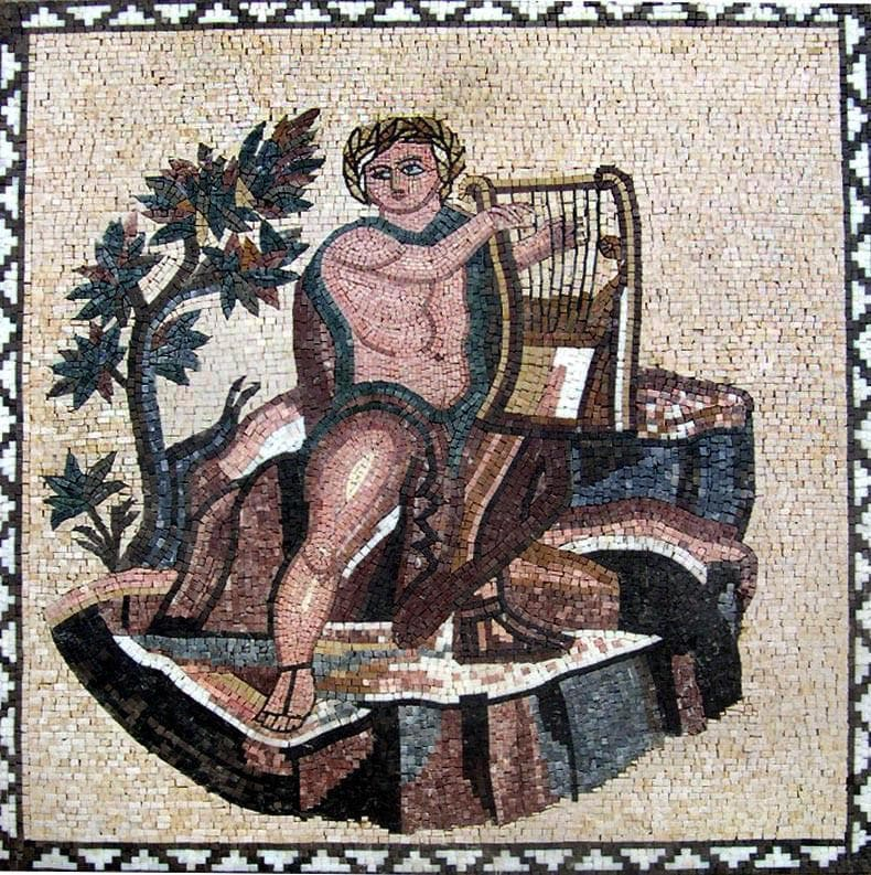 Ancient Mosaic Patterns- Roman Scenery