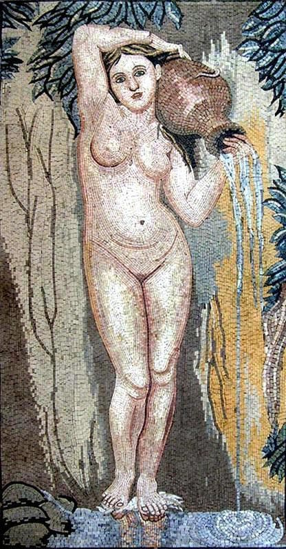 Mosaic Reproduction - ean Auguste - The Spring