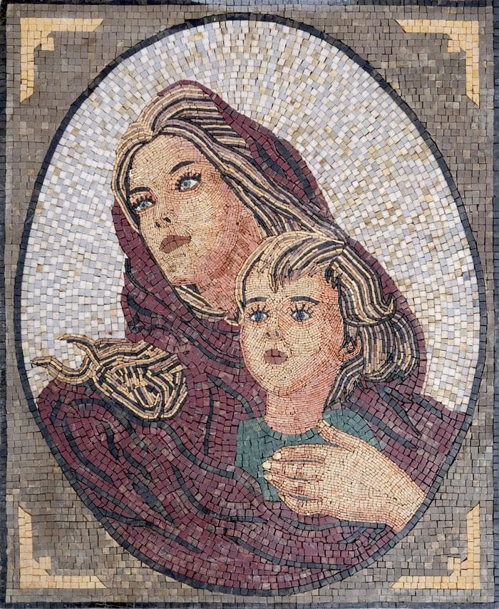 Mosaic Reproduction - Madonna
