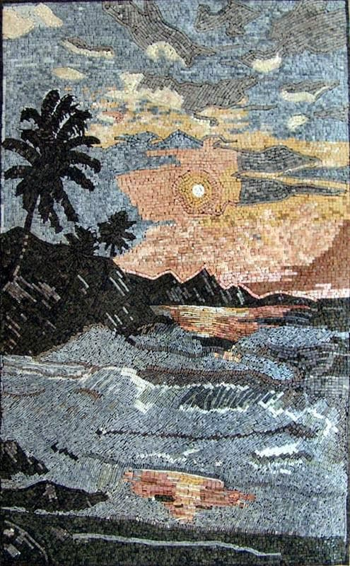 Nature Art Mosaic - Horizon Sunset