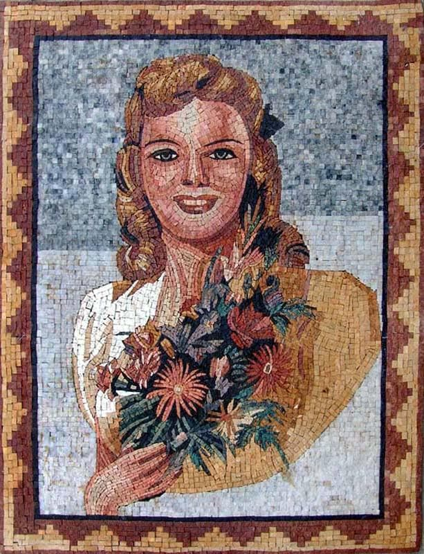 Mosaic Art For Sale- Young Marilyn