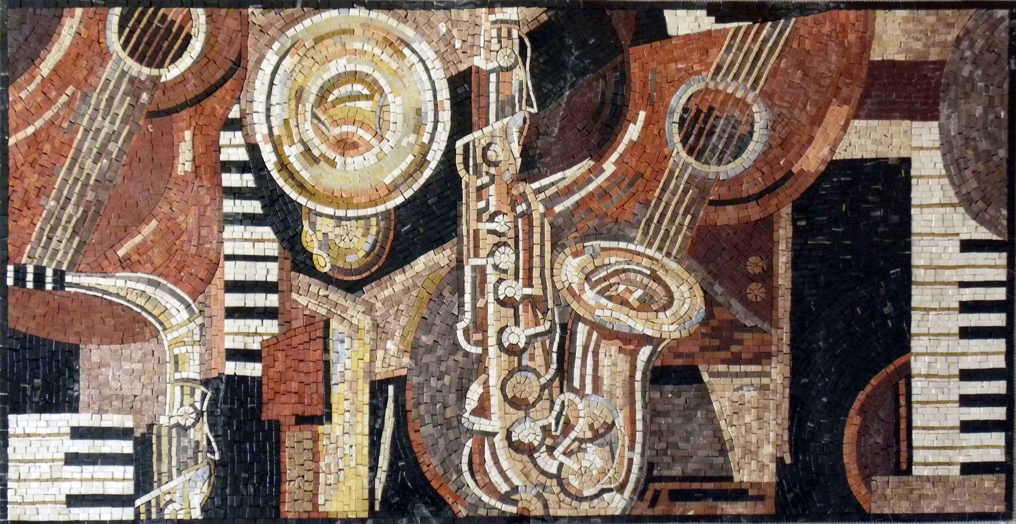 Mosaic Marble Designs - Musical Instruments