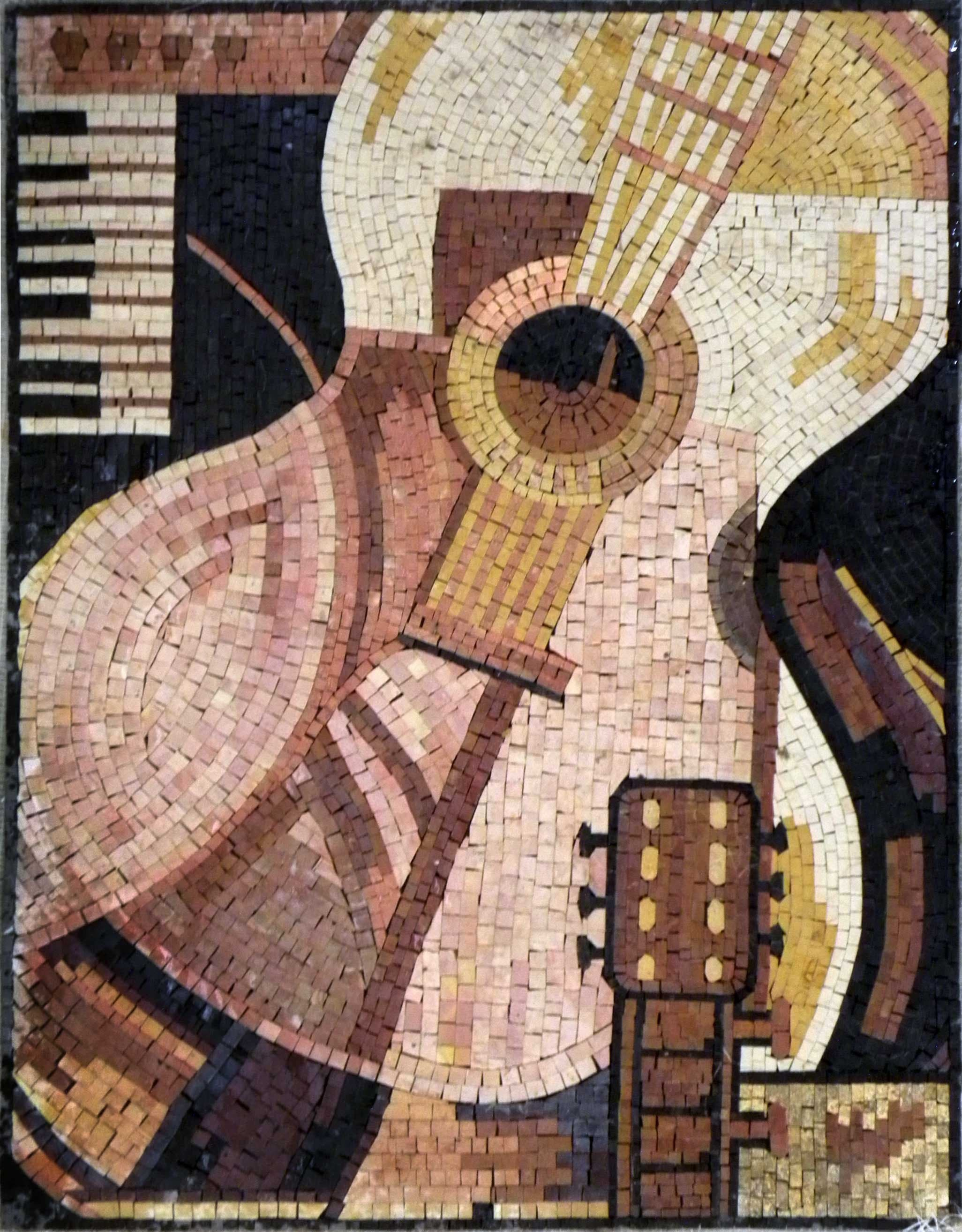Contemporary Mosaic Art - The Guitar Piece