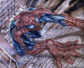 Spiderman Mosaic Art