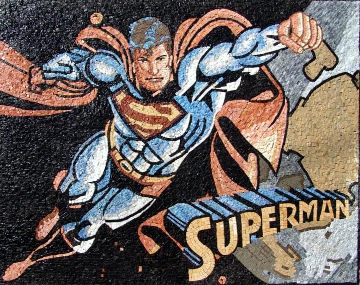 Superman Mosaic Mural