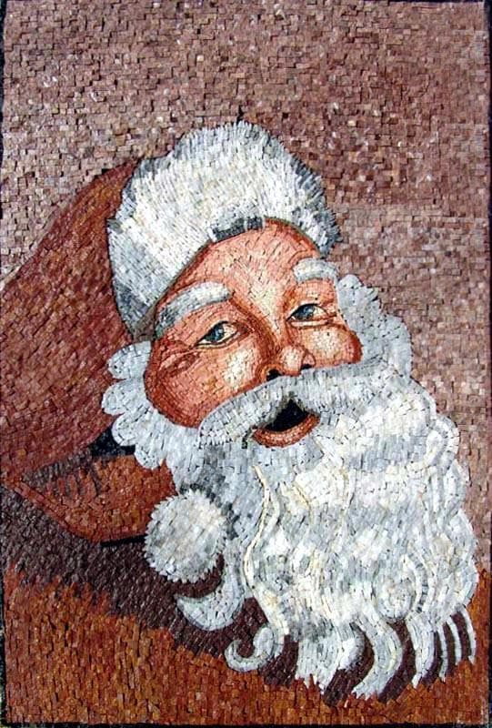 Santa Clause Mosaic Artwork Pic