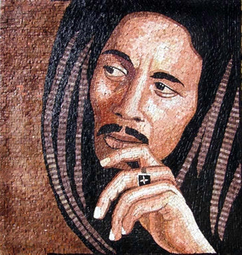 Bob Marley Mosaic Artwork