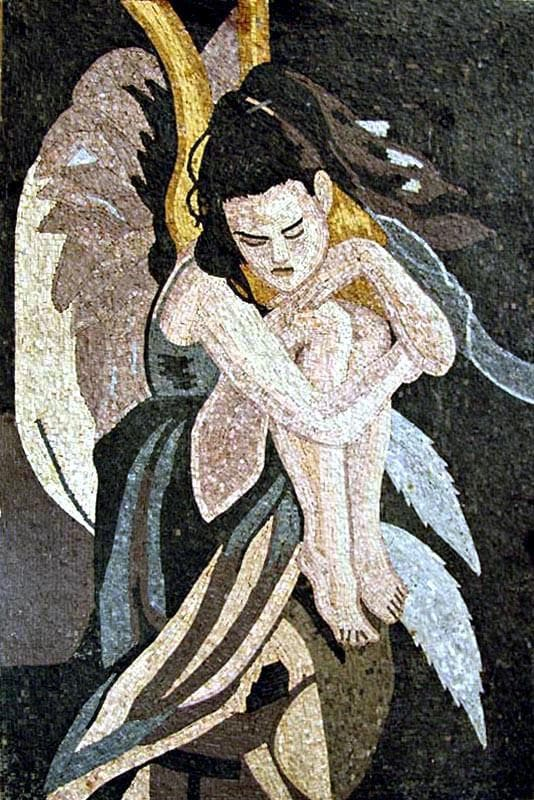 Fairy On The Flower Mosaic Pic