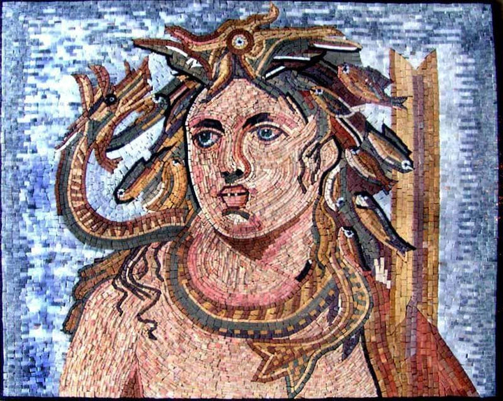 Greek Sea God Mosaic