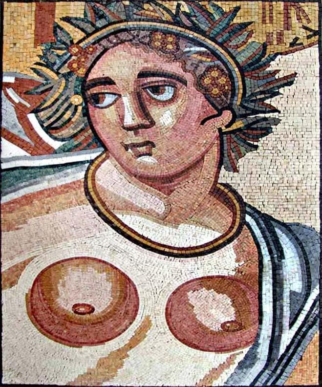 Greek God - Marble Mosaic Art