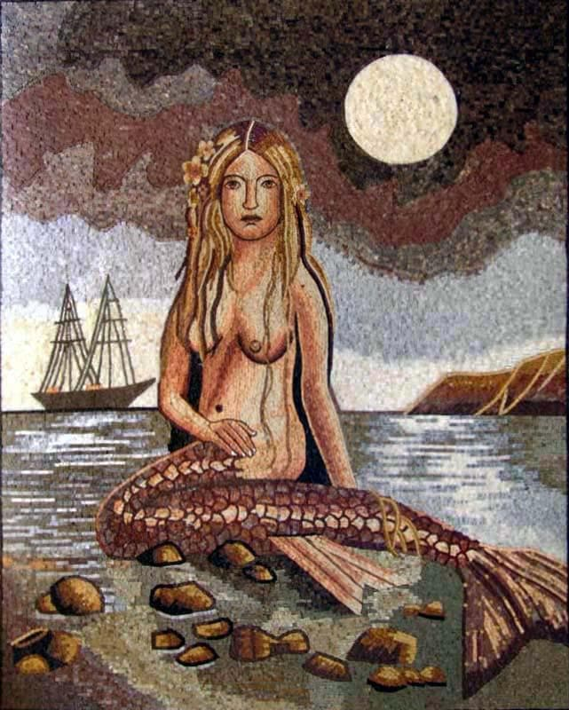 Mermaid Mosaic Nautical Fantasy Mosaics Pic