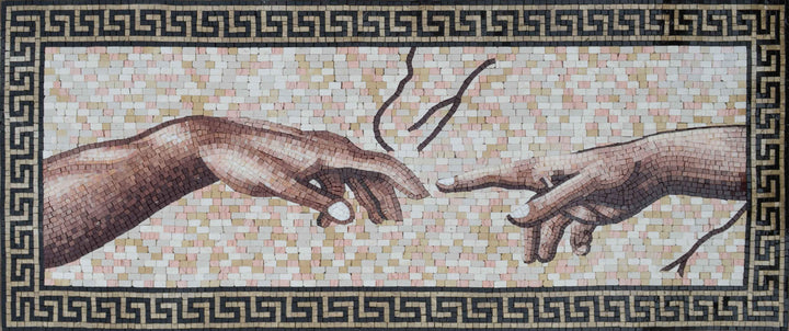 Mosaic Wall Art - The Creation Of Adam