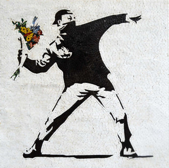Banksy The Flower Thrower