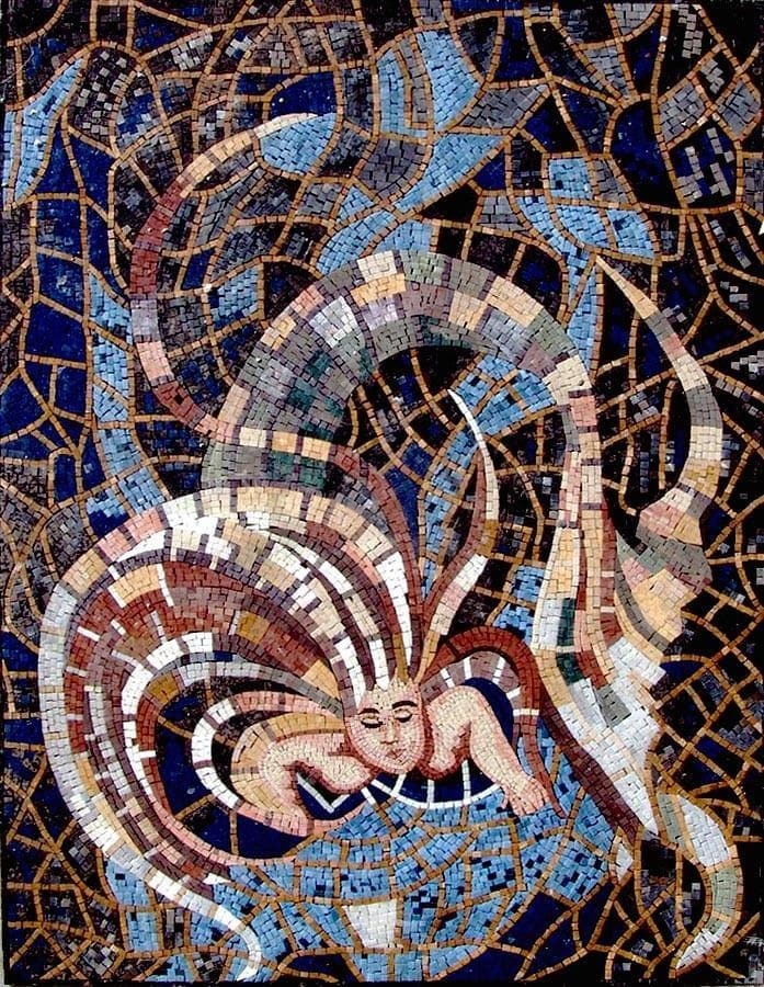Medusa Mosaic Artwork