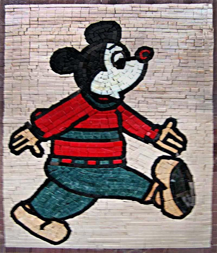 Mickey Mouse Marble Mosaic