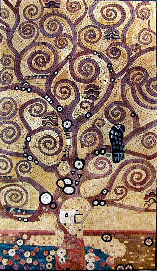"Mosaic Art Reproduction - Gustav Klimt  Tree Of Life"" """