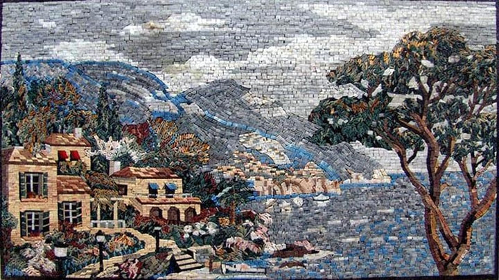 Landscape mosaic art view