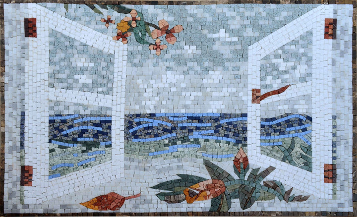 Mosaic Wall Art - Balcony Scenery